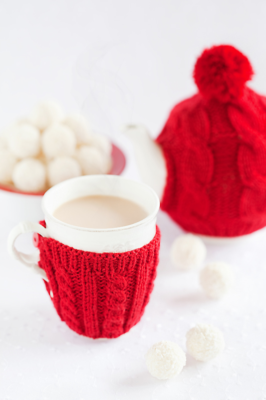 Spiced milk tea and white chocolate coconut truffles