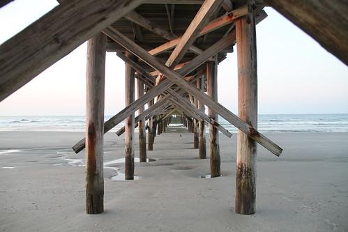 ocean pier perspective