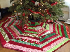 Presents gone, room for my tree skirt! by libby dibby