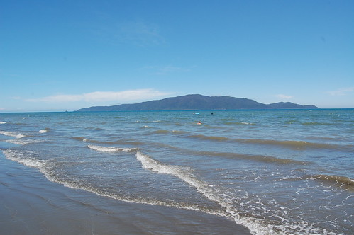 Kapiti Island from Waikanae Beach