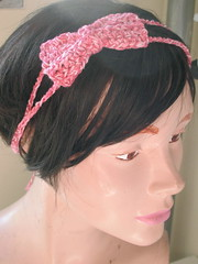 Recycled Cotton Crochet Bow Headband