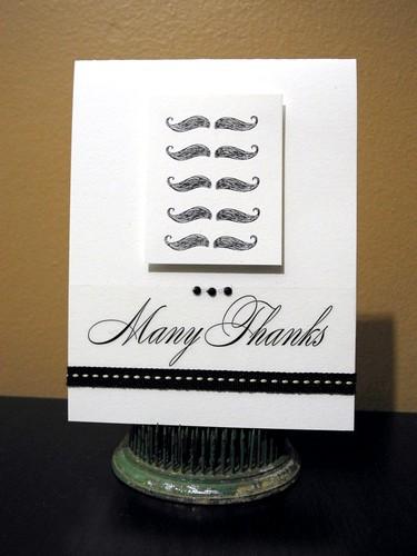 Mustache Thanks