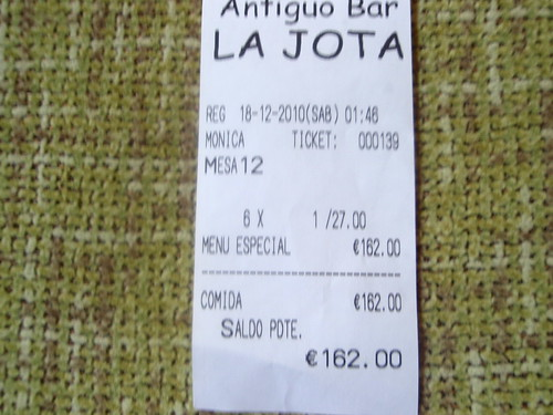 Zaragoza | Antiguo Bar La Jota | Ticket