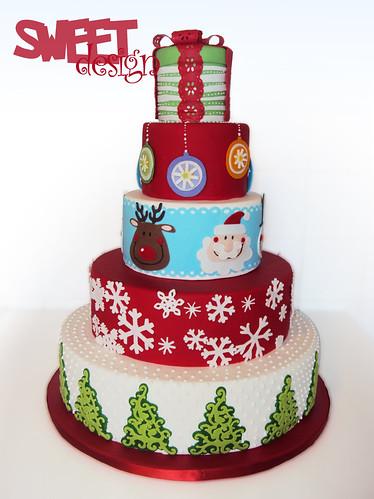 Cricut Christmas Cake