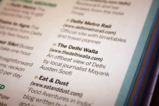 City Notice – Lonely Planet Recommends The Delhi Walla