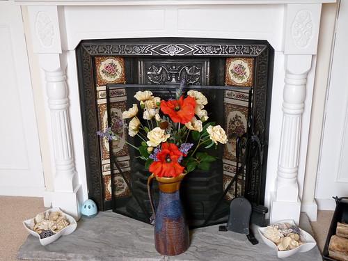 暖炉 木製マントルピース