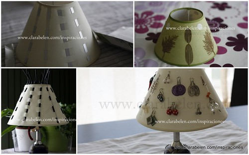 Manualidades e ideas para reciclar una pantalla para lámpara
