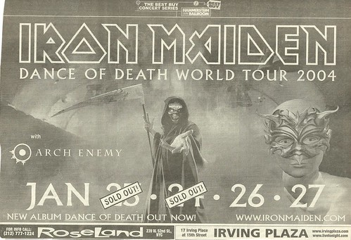 01/23 - 27/04 Iron Maiden/Arch Enemy @ Hammerstein Ballroom, NYC, NY