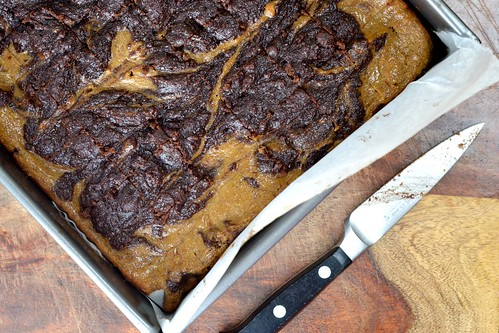 Pumpkin Spice Cheesecake Swirl Brownies