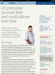 Guardian iPad edition - A Comment page