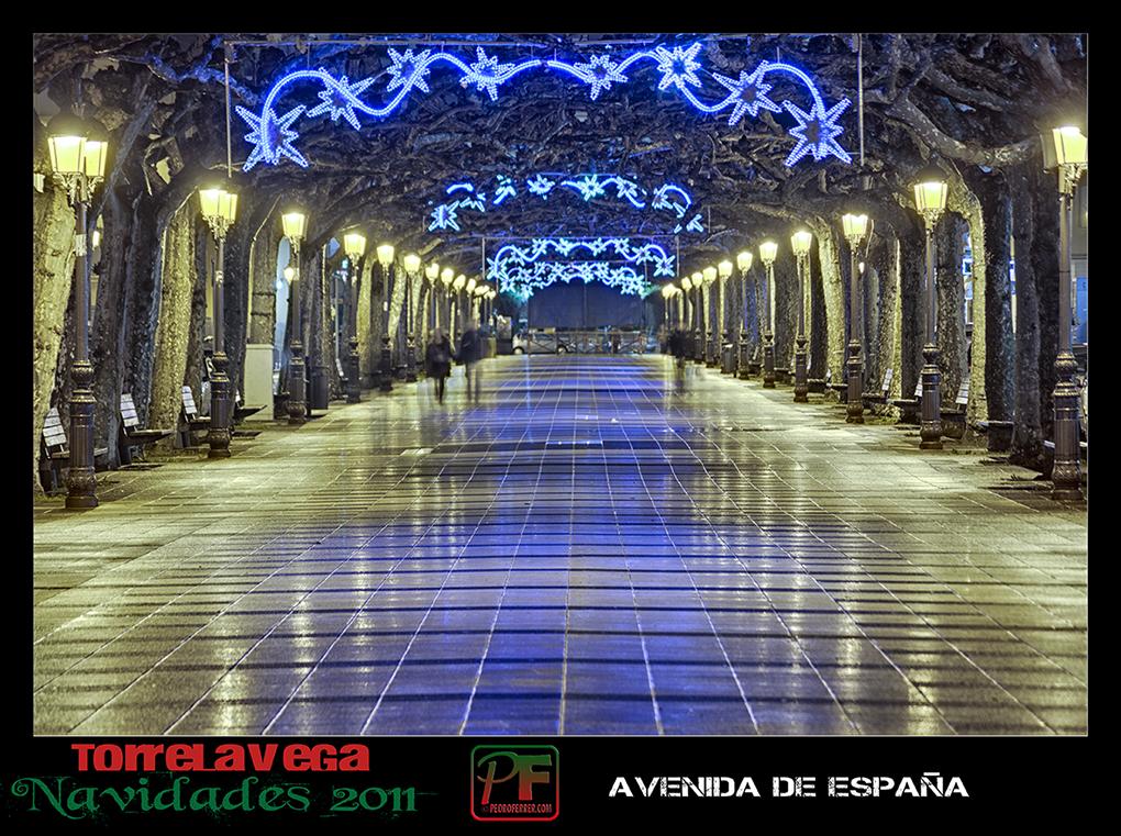 Torrelavega - Avenida España  - Navidades 2011