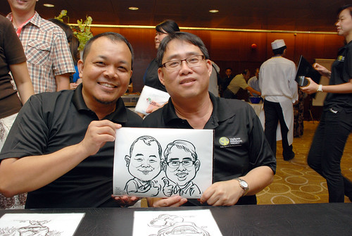 Caricature live sketching for SCORE – Yellow Ribbon Celebrating 2nd Chances 2011 - 4