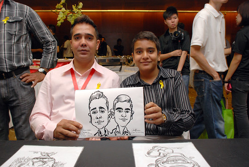 Caricature live sketching for SCORE – Yellow Ribbon Celebrating 2nd Chances 2011 - 10