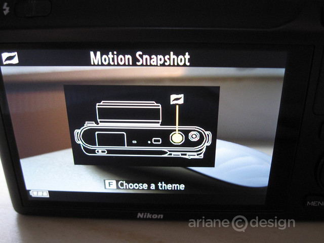 Motion Snapshot screen