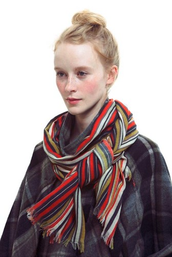Printed wool scarf from Suno