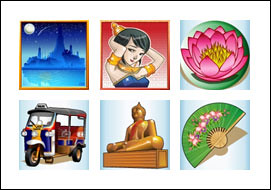 free Thai Sunrise slot game symbols