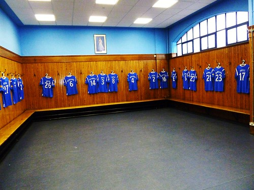 Players Changing Room at Glasgow F.C.