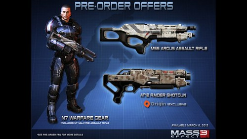 mass effect 3 pre orders