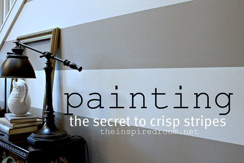 How to paint stripes the secret to crisp stripes the for Painting lines on walls