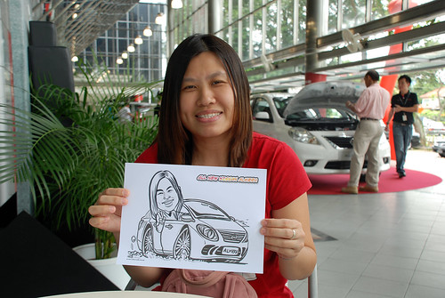 Caricature live sketching for Tan Chong Nissan Almera Soft Launch - Day 2 - 14