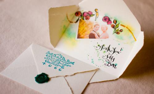 A Modern Vintage Australian Wedding-Thank You Cards