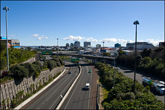 Auckland Motorway from Symonds Street Bridge