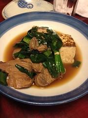 まぐろ焼き豆腐うま煮 @上かん屋