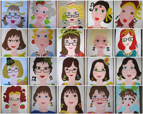 "My ""girls"" from 2011 in my Ladies Series plus Flossie #20"