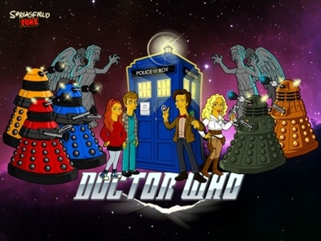 Mush-up de Doctor Who Simpsons