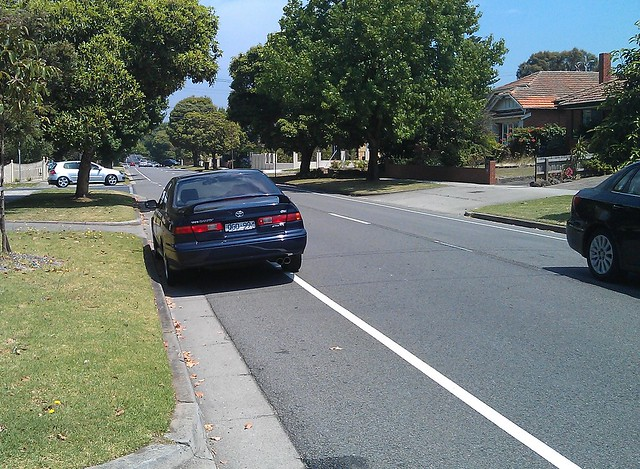 Melbourne's narrowest bike lane?