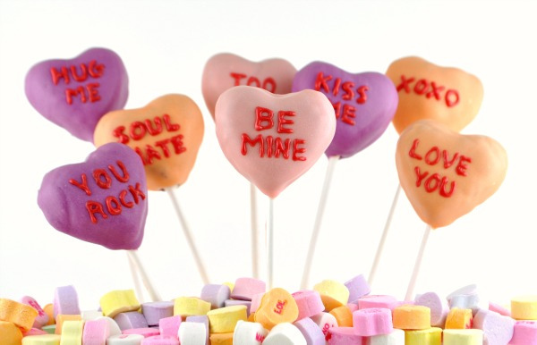 Conversation Heart Cake Pops By 3 Kids And Us Blog/Food Family Finds