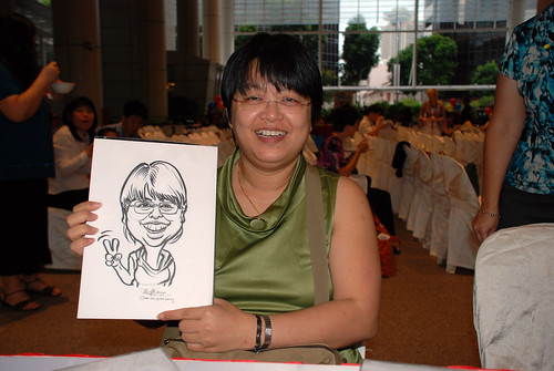 caricature live sketching for kidsREAD Volunteer Appreciation Day 2011 - 4