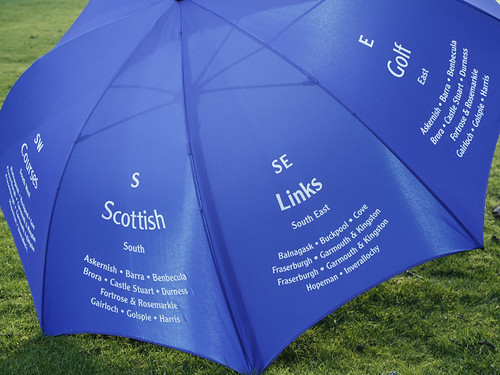 Scottish Links Golf Courses Umbrella