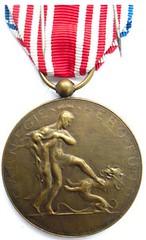 Carnegie Hero Medal Belgium reverse