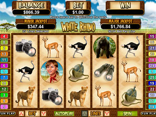 White Rhino Slot Machine