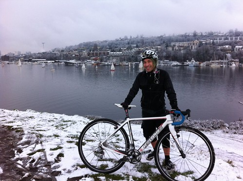 Snow on Gasworks Park