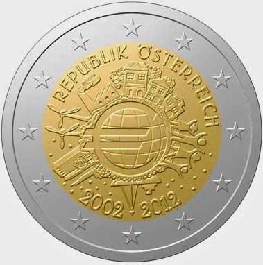 2 Euro Rakúsko 2012, 10. výročie zavedenia Eura