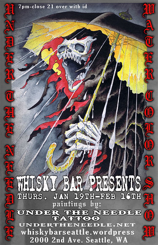 Under the Needle Art Show @ the Whisky Bar!