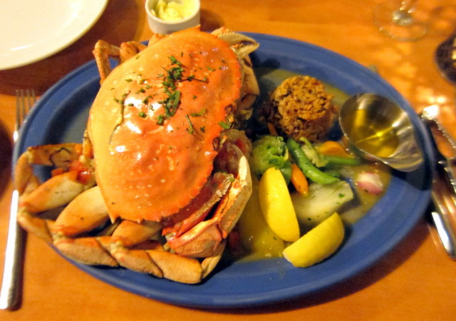 Steamed Dungeness Crab Provencal Style
