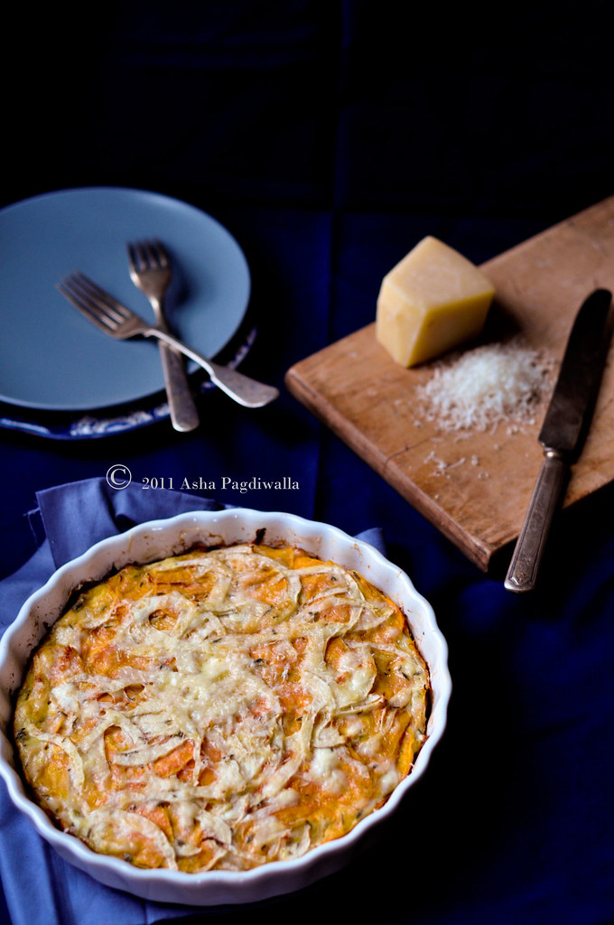 Sweet Potato & Fennel Frittata whole pie
