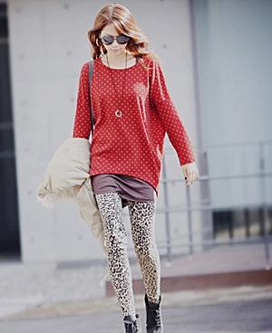 Wear leopard print leggings with prints