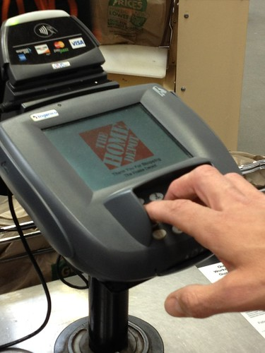 Home Depot Terminal with PayPal