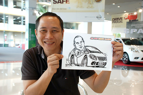 Caricature live sketching for Tan Chong Nissan Motor Almera Soft Launch - Day 4 - 13