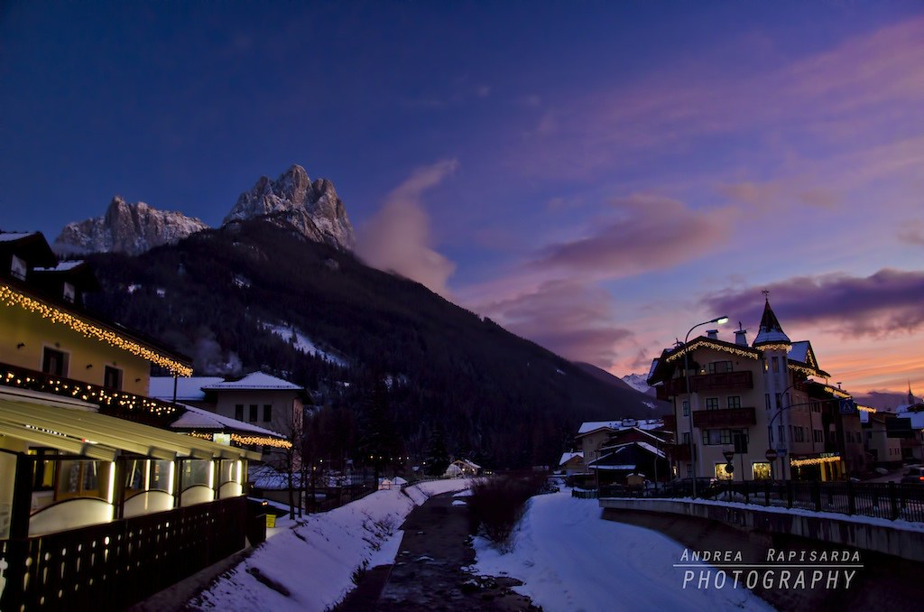 Blue hour at Pozza di Fassa