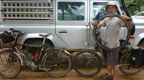 Japanese cyclist in Lilongwe