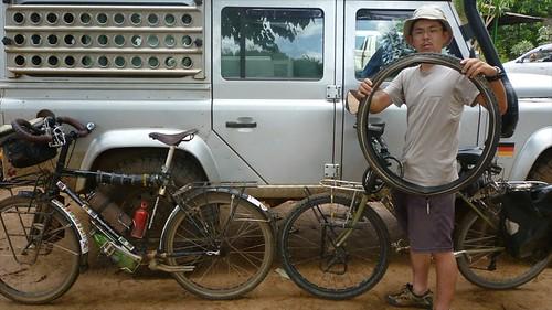 Japanese cyclist in Lilongwe