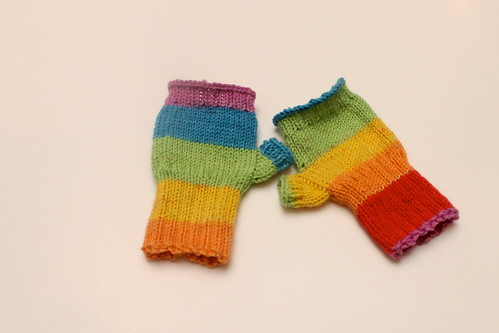 Rainbow Mittens Finished