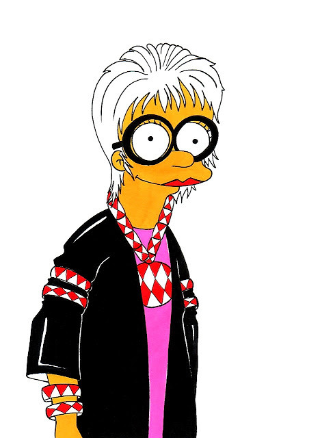 Marge Simpson Loves Iris Apfel