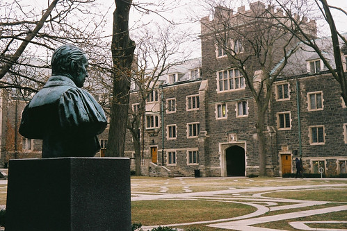 Trinity College Toronto quadrangle - Agfa Silette LK