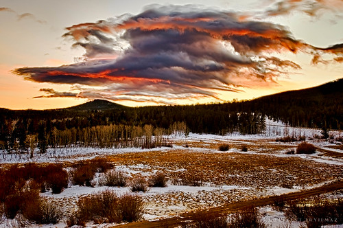 park blue trees sunset red sky mountain clouds nikon colorado near rocky national 1024mm d7000 leventeryilmaz